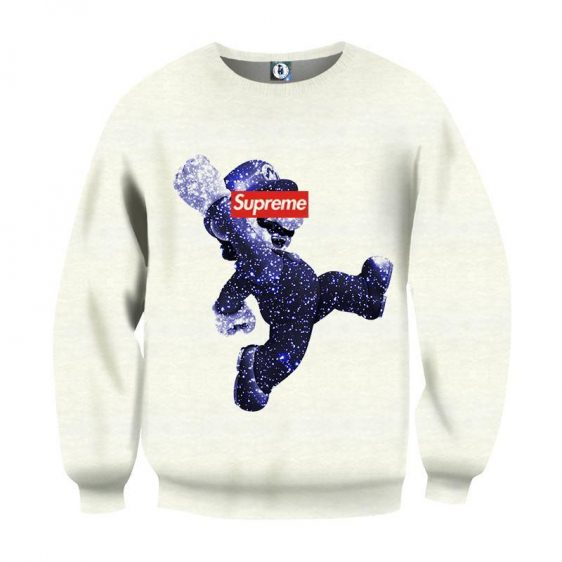 Super Mario Collab Supreme Dope Streetwear Design Sweatshirt