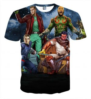 Guardians of the Galaxy Parody Football Stars Style Funny T-shirt - Superheroes Gears