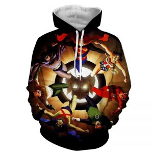 Justice League Superheroes Justice Symbol 3D Printed Hoodie - Superheroes Gears