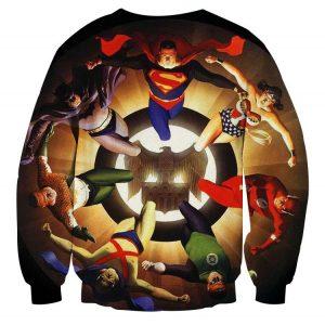 Justice League Superheroes Justice Symbol 3D Printed Sweatshirt - Superheroes Gears