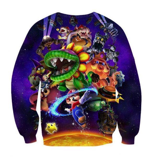 Super Mario Skyship Browser Monster Vibrant Print Sweatshirt