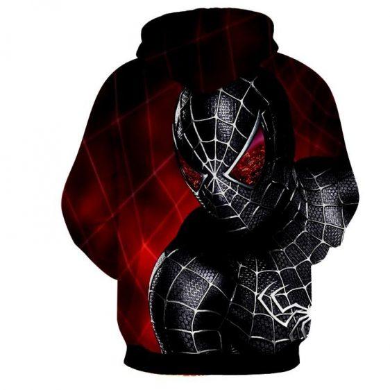 Dark Spiderman Badass Red Print Hoodie