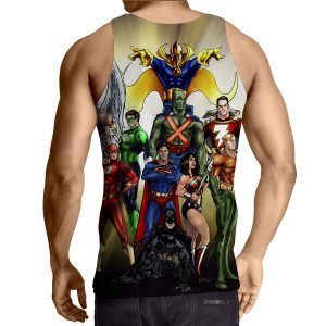 Justice League DC Superheroes All Characters Cool Tank Top - Superheroes Gears