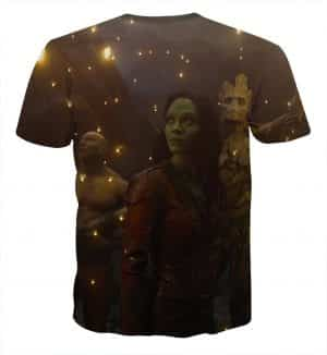 Guardians of the Galaxy Team Watching Firefly Full Print T-shirt - Superheroes Gears