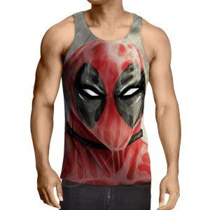 Deadpool Wet Face Portrait In The Rain Amazing Design Tank Top - Superheroes Gears