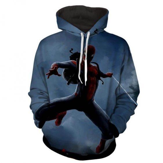 Spiderman Web Shooting Smoke 3D Print Hoodie