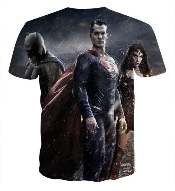 Batman VS Superman Dawn Of Justice Trinity 3D Print T-Shirt - Superheroes Gears