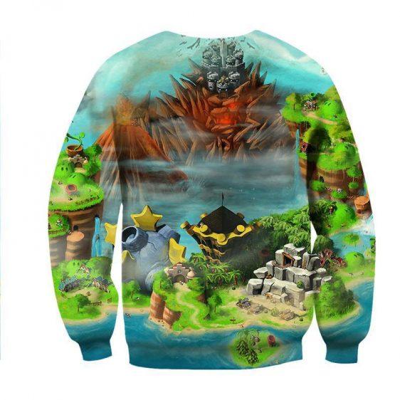 Super Mario Castle Defender Game Color Design Sweatshirt