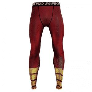 DC Comics Shazam Red Men Cosplay Fitness Leggings Yoga Pants
