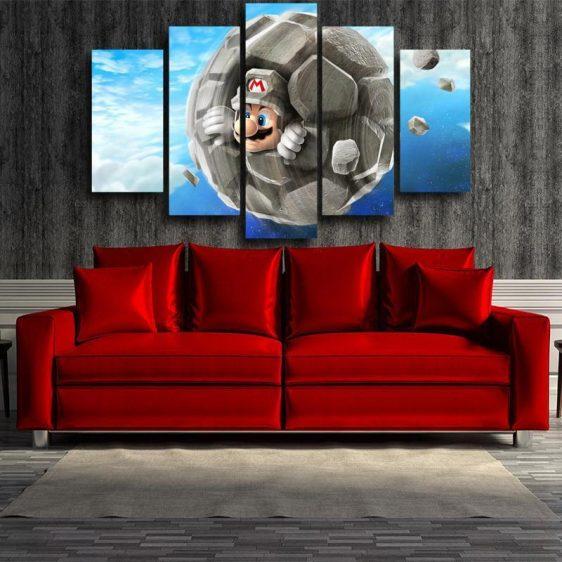Super Mario Rock 5pc Wall Art Decor Posters Canvas Prints