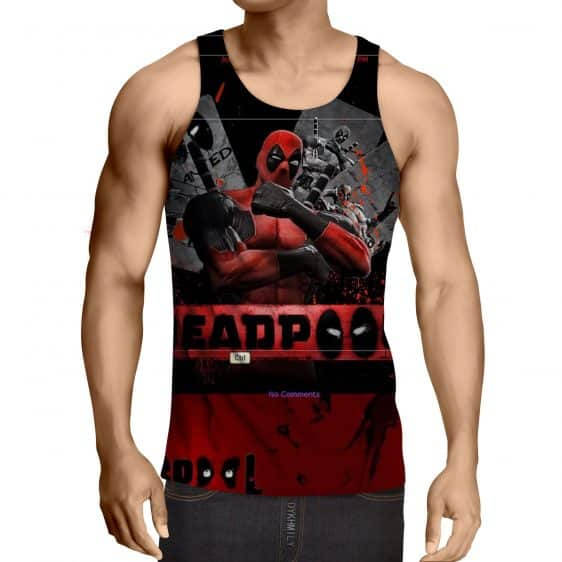 Deadpool The Winner Style Funny Design Full Print Tank Top - Superheroes Gears
