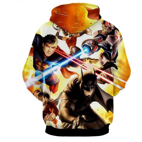 Justice League Super Power Heroes Cool Art Printing Hoodie - Superheroes Gears