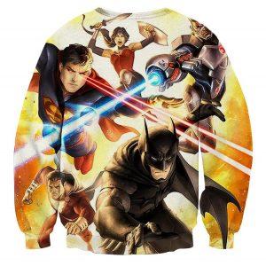 Justice League Super Power Heroes Cool Art Printing Sweatshirt - Superheroes Gears