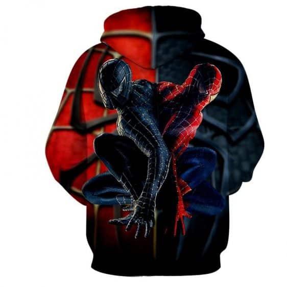 Spiderman Half Dark Spiderman Two Sides 3D Print Hoodie