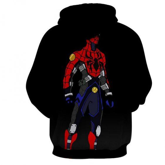 Spiderman Robot Comic Art 3D Print Hoodie