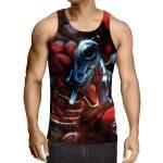 Dangerous Deadpool Firing A Gun Amazing Style Fan Art Tank Top - Superheroes Gears