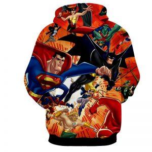 Justice League DC Awesome Superheroes Team 3D Printed Hoodie - Superheroes Gears