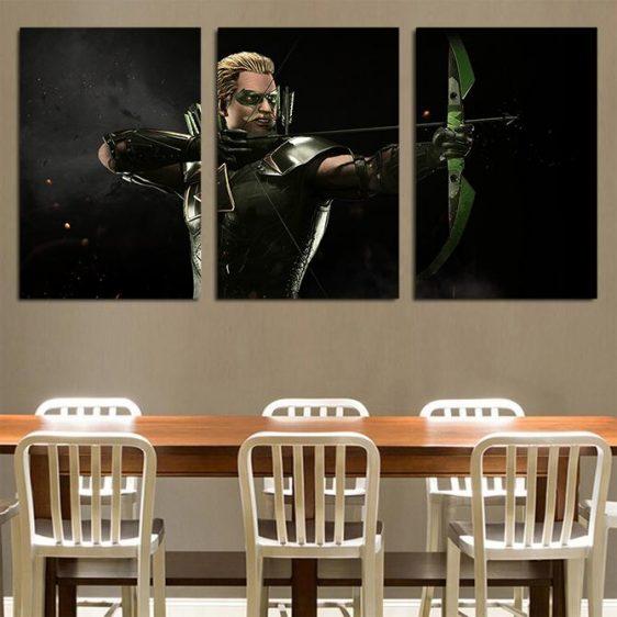 DC Comics Injustice Green Arrow Dope 3pc Wall Art Canvas Print