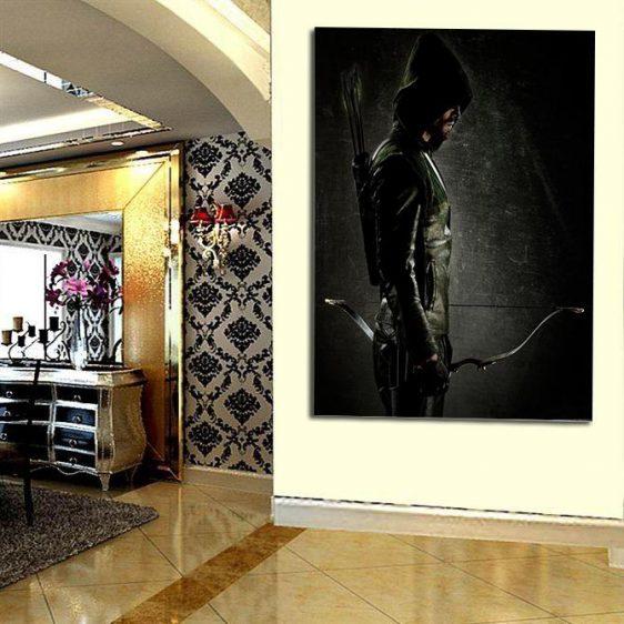 DC Comics Mysterious Green Arrow 1pc Wall Art Canvas Print