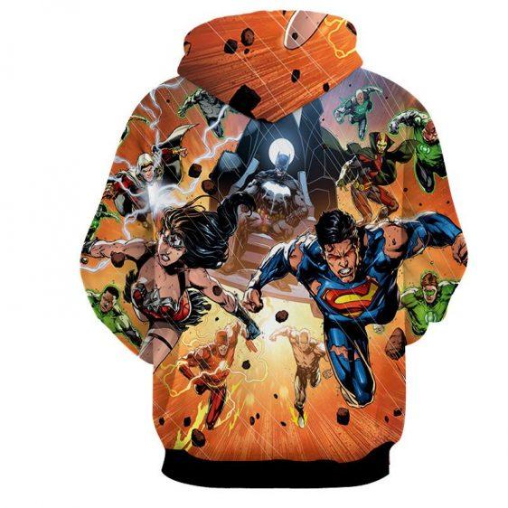Justice League Heroes Fighting Dope Design 3D Print Hoodie - Superheroes Gears