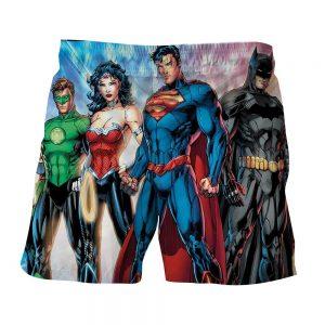 Justice League Heroes Dope Art Design Summer Shorts - Superheroes Gears
