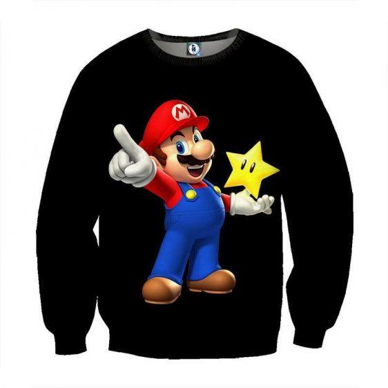 Super Mario Super Star Invisible Mode Cool Design Sweatshirt