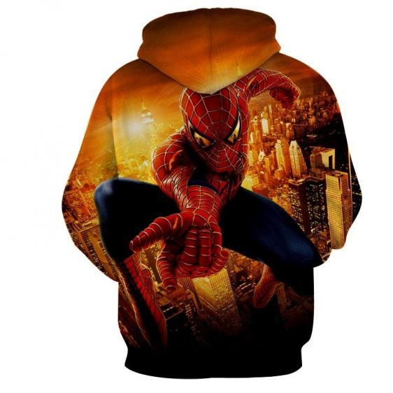 Spiderman Web Shooter Cityscape Daylight 3D Print Hoodie