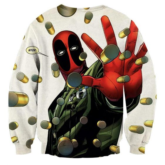 Deadpool Stopping Bullets Dope Design Full Print Sweatshirt - Superheroes Gears