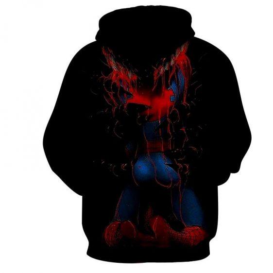 Spiderman Melting Disintegration 3D Print Hoodie