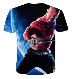 Guardians of the Galaxy Drax Powerful Warrior Dope 3D T-shirt - Superheroes Gears