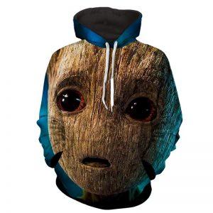 Guardians of the Galaxy Emotional Cute Baby Groot 3D Print Hoodie - Superheroes Gears