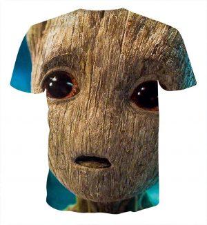 Guardians of the Galaxy Emotional Cute Baby Groot 3D Print T-shirt - Superheroes Gears