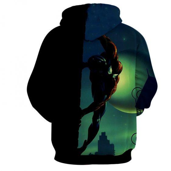 Spiderman Nightime Moon 3D Print Hoodie