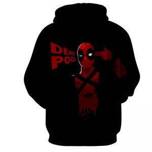Deadpool Marvel Hand Gun Sign Red And Black Design Hoodie - Superheroes Gears