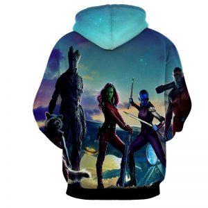 Guardians of the Galaxy Team Gamora Groot Portrait Cool Hoodie - Superheroes Gears
