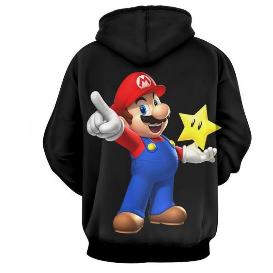 Super Mario Super Star Invisible Mode Cool Design Hoodies