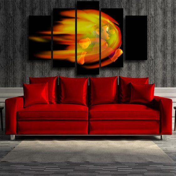 Super Mario Fire Dash 5pc Wall Art Decor Posters Canvas Prints