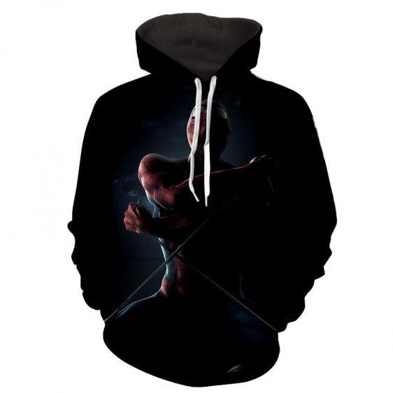 Spiderman Web Pull Dark 3D Print Hoodie