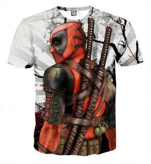 Deadpool The Back Portrait Amazing Fan Art Full Print T-shirt - Superheroes Gears