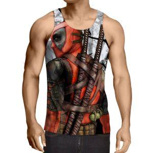 Deadpool The Back Portrait Amazing Fan Art Full Print Tank Top - Superheroes Gears