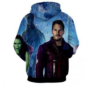 Guardians of the Galaxy Team Portrait Vibrant Design Hoodie - Superheroes Gears