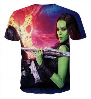 Guardians of the Galaxy Gamora Portrait Dope 3D Design T-shirt - Superheroes Gears