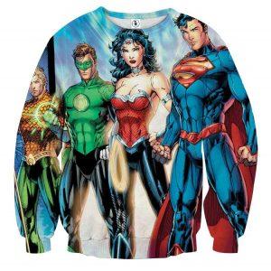 Justice League Heroes Dope Art Design 3D Printed Sweatshirt - Superheroes Gears