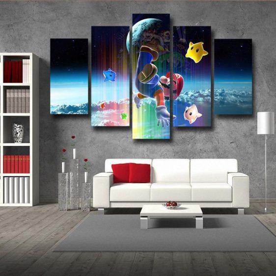 Super Mario Browser 5pc Wall Art Decor Posters Canvas Prints