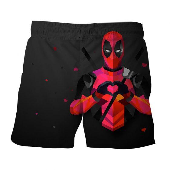 Hilarious Deadpool Love Icon Modern Design 3D Print Short - Superheroes Gears
