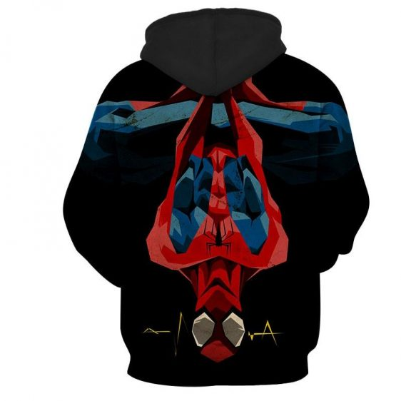 Spiderman Hanging Upside Down Dope Style 3D Print Hoodie