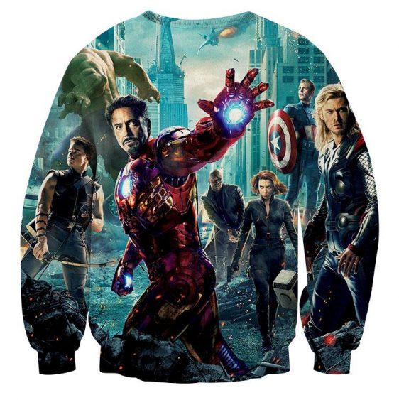 The Avengers Iron Man Black Widow Nick Fury Sweatshirt