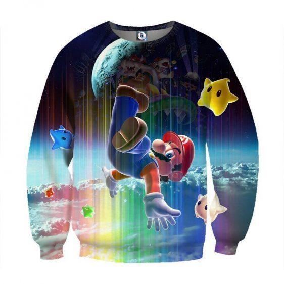 Super Mario Nintendo 3DS Rainbow Browser Color Sweatshirt