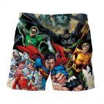 Justice League Superheroes Team Cool Art 3D Printed Shorts - Superheroes Gears
