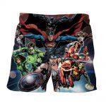 Justice League DC Comics Superheroes Team Cool Art Print Shorts - Superheroes Gears
